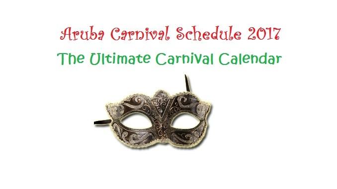 Aruba Carnival Schedule 2017
