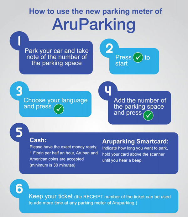 paid parking in downtown Aruba