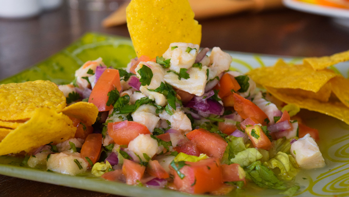 local restaurant in palm beach sweet peppers ceviche